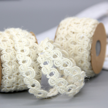 White rope lace crafts jewelry gift box decoration DIY woven rope braid