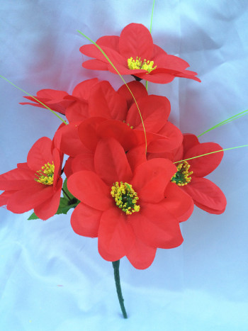 5 head artificial flower handmade  decoration flower silk  flower roma flores floral factory direct low