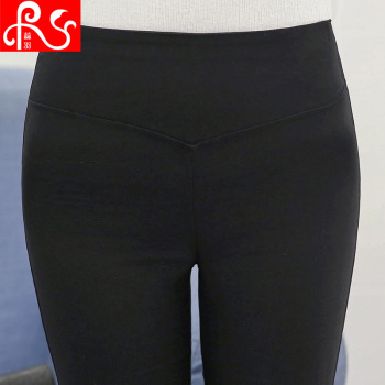 New spring play underwear big yards Korean version black feet trousers ladies high waist slim pencil pants Wholesale