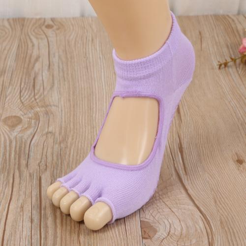 2017 new all cotton gel toe socks Five-toed boat socks