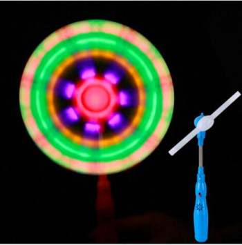 Long Windmill Electric Music windmill Electric Windmill Children's toy Night market stall selling luminescent toys