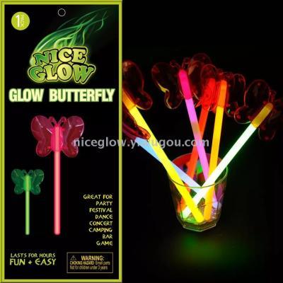 glow butterfly wand glow butterfly  stick glow stick toys