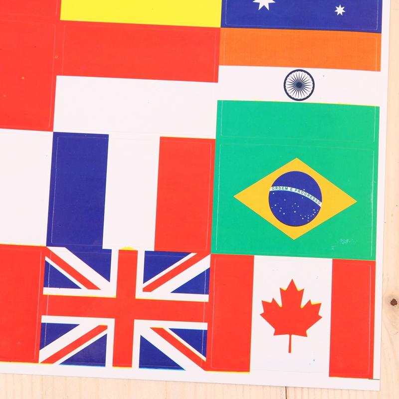 认知各国红旗国旗立体贴纸贴画儿童奖励奖品