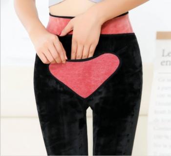 Cashmere leggings female wear autumn thickening black trousers high waist warm foot pants female winter