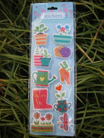7D bubble sticker series; cartoon Handmade Child gift sticker