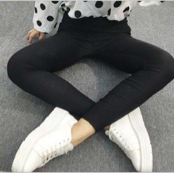 Autumn and winter new women's clothing plain waist cashmere pencil pants Korean ladies fashion wear underwear