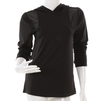Xin Yi knitting 2017 new fashion sportswear yoga clothing hooded long sleeve