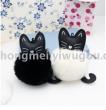Hot new creative handmade kitten fluffy ball bag pendant car key chain factory Direct sales can be customized