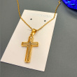 Boutique stainless steel cross pendant necklace stainless steel Ornament