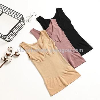 Autumn and winter new hair ring cotton plastic body vest body type waist underwear wholesale