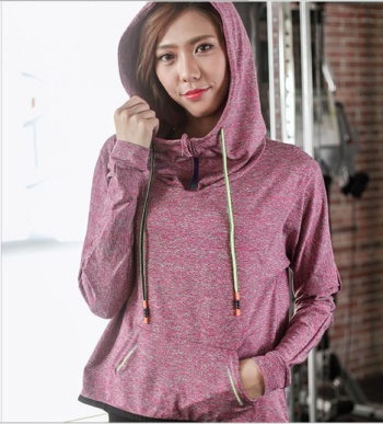 2017 new spring Fall sports jogging jacket long sleeve quick-drying yoga clothing female training fitness casual jacket