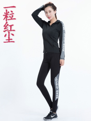 2017 new autumn winter slim skinny jogging fitness set two-piece Lycra yoga dress women