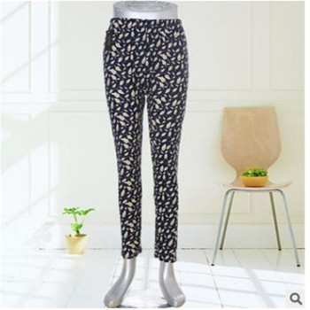 New two-sided grinding wool milk silk breathable 9 pants elastic thin color large size middle-aged playing underwear