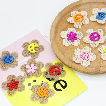 Popular Hot linen small flower design various colors bright jewelry decorative shoes and hats Accessories