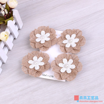 DIY Handmade linen flower Crafts accessories Homemade creative linen small flower accessories Decoration