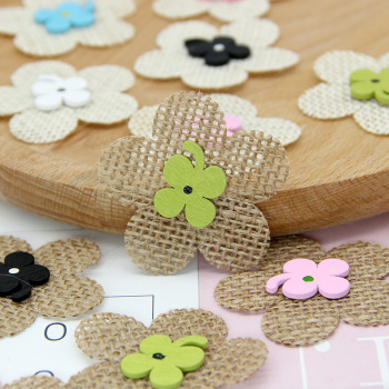 Popular hot-selling pure handmade linen small flower ornaments decorative clothing shoes and hats accessories and so on