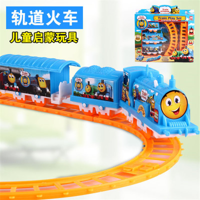 Factory direct rail locomotive small Thomas boxed Playsets stall selling
