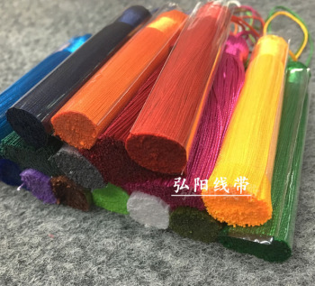 8cm exquisite large tassels color jewelry hanging earrings hanging ear Chinese knot parts ice silk tassels pendant
