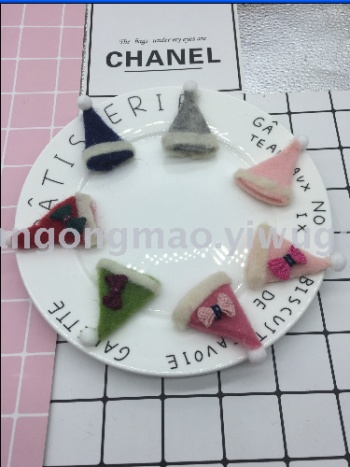 Christmas hat wool felt stamp music DIY jewelry Crafts garment Accessories Accessory Parts 185 (7)