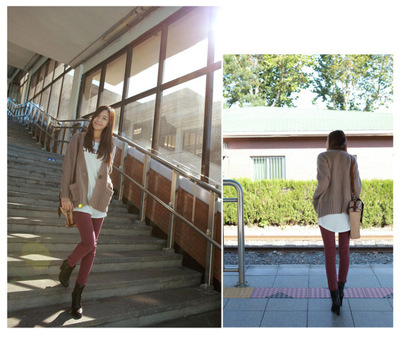 Self-cultivation show thin leggings with extra velvet and thickened winter big yards elastic leisure feet pencil pants