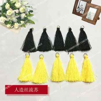 Ice silk embroidery line tassels ring tassel earrings necklace jewelry Accessories fashion Hat Clothing Accessories