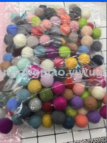 Wool ball wool felt stamp music handmade DIY jewelry Crafts garment accessories Accessory Parts 181 (3)