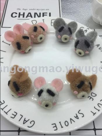 Pig sheep felt poke stamp music handmade DIY jewelry Crafts Garment Accessories Accessory 182 (4