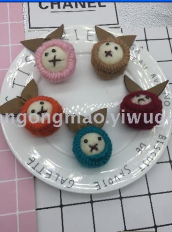 Fur-eared rabbit wool felt stamp music handmade DIY jewelry Crafts Garment Accessories Accessory 189 (11