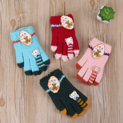 2017 new knitted Gloves fashion winter cute children Gloves