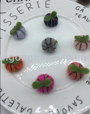 Pumpkin wool felt stamp music DIY jewelry Crafts Garment Accessories Accessory 184 (6