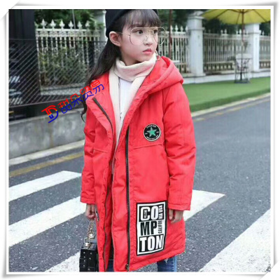 6ca870a80 Supply plush children long down jacket four layer lock velvet ...