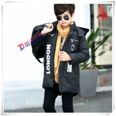 7913ad845 new style a4600 f8f47 plush children long down jacket four layer ...