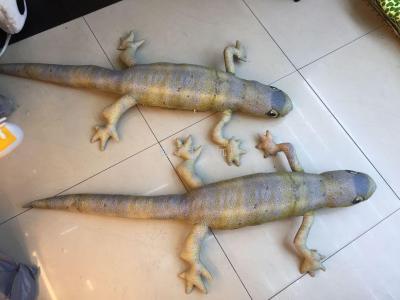 Taiwan simulation Lizard Pillow Creative evil funny Chameleon Plush Toy Gecko Doll burst new style