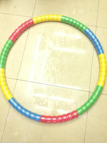 Hula hoop with heavier hula hoop
