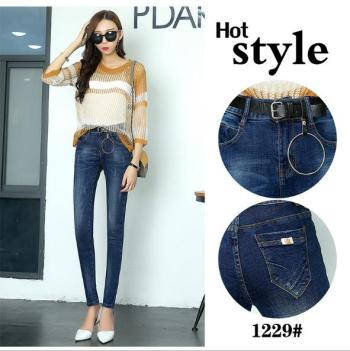 Autumn and winter jeans women trousers Korean version of the big waist size pants high