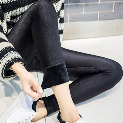 【加绒保暖打底光泽裤】秋冬季女士外穿百搭打底裤