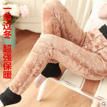 Winter new lamb cashmere leggings thickening add lady warm one pants North special heating