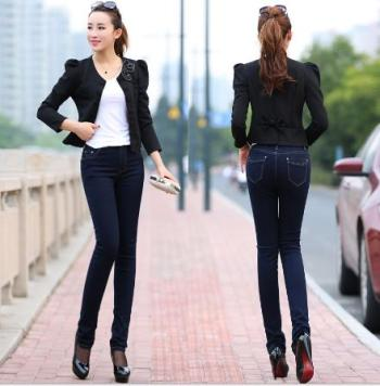Jeans Wholesale primary supply autumn new Lady Jeans Korean version of foot pants pencil pants