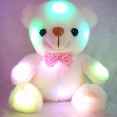 Led colorful music toys teddy Bear plush toy scarf bear Scarf Rabbit Valentine's Day gift