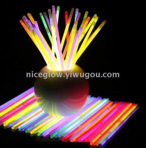 100pcs 5*200mm 8 inch glow bracelets with connectors