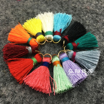 Handmade mini metal ring tassels jewelry hanging all kinds of clothing hat bag accessories embroidery Line small tassels