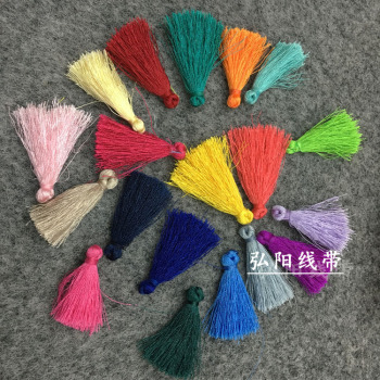 4cmDIY hand-fringed ear circulation Su-sui mini-ring-free small fringed jewelry costume Accessories
