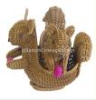 Supply Hand woven simulation squirrel export hot storage basket simulation animal simulation Storage Basket