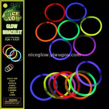 Fluorescent stick three-pack bracelet hardcover luminous rod Manufacturers Direct Sales