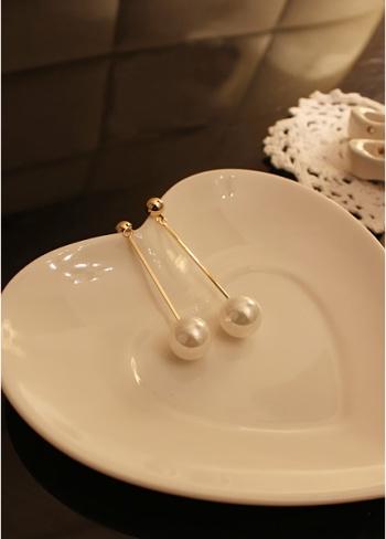 Korea Jewelry OL Temperament gold-plated long pearl earrings earring Earrings