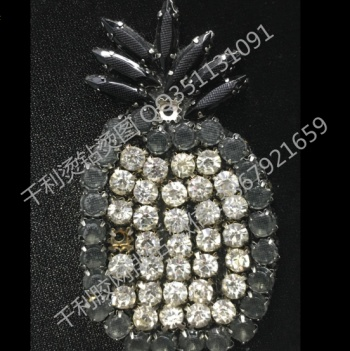 Drilling bag Edge drilling crystal glue network drilling hot figure hot drilling Pineapple Jewelry Clothing Accessories