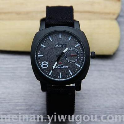 New fashion jeans with male watch square simple student watches