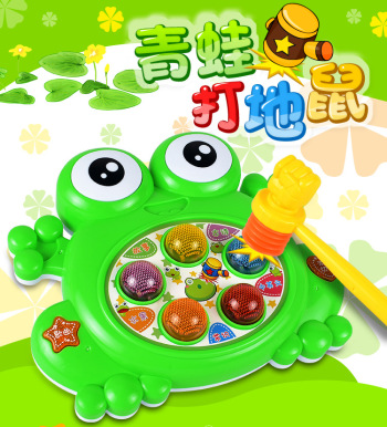 Frog playing hamster children's toys multi-functional electric playing hamster game educational toys wholesale