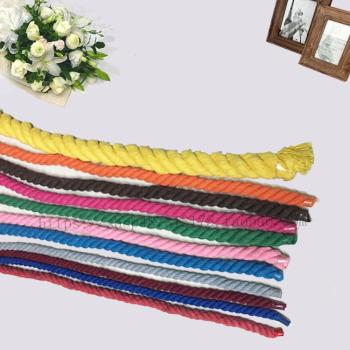 Three strands of color cotton rope handbag/canvas bag rope Kangkou tie rope trim Rope Rope