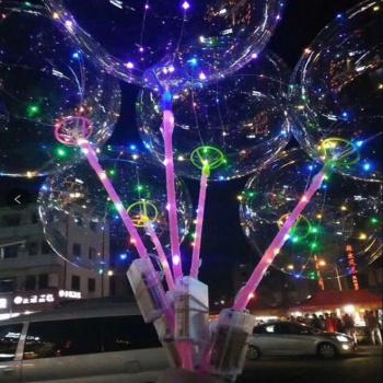 Led Transparent Glow Ball 18-inch 24-inch wave ball stall light transparent ball balloon